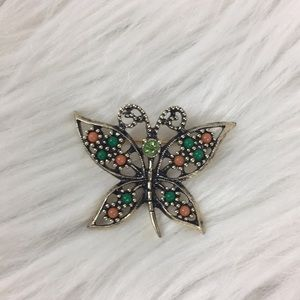 Sarah Coventry, butterfly brooch, NWOT.